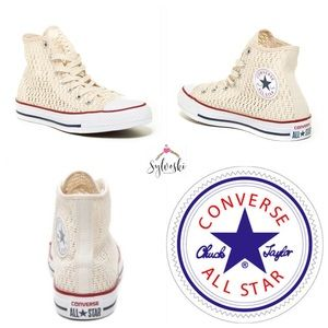 🆕 Converse Chuck Taylor All Star Crochet Hi Top